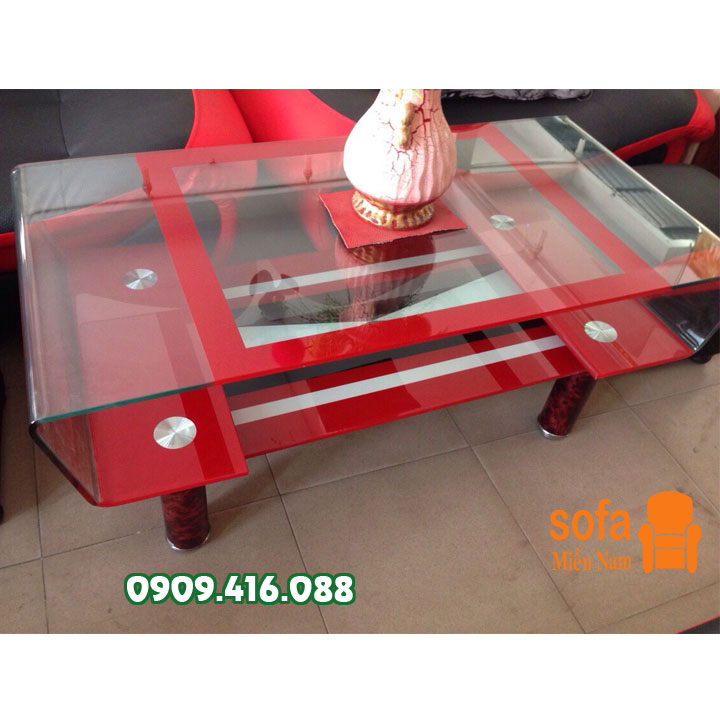 bàn tiếp khách kính giá rẻ-bs37