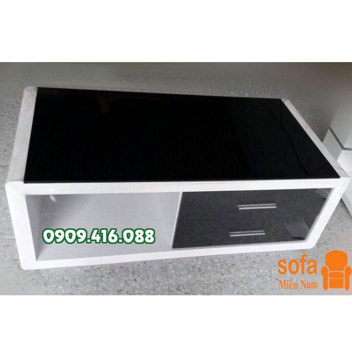 bàn trà gỗ mặt kính giá rẻ - bs36
