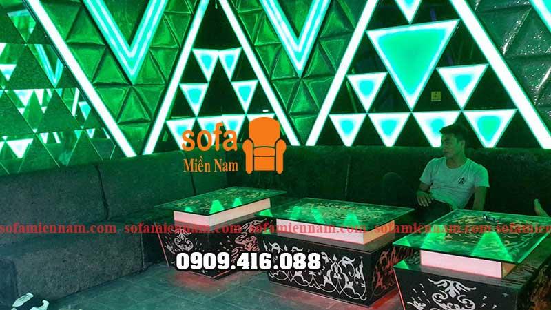 Thi công ghế sofa karaokê và bàn sofa cho phòng karaokê quận 12 TPHCM