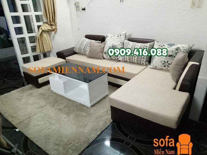 Giao ghế sofa phòng khách cao cấp giá rẻ cho anh Thành ở Biên Hoà Đồng Nai