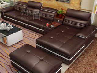 ghe-sofa-da-han-quoc-nhap-khau-sd0019 màu nâu