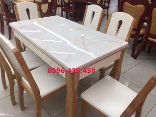 Bàn ăn mặt đá nhập khẩu sáng bóng bền đẹp giá rẻ BAMD009