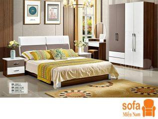 Combo giường ngủ tủ quần áo, bàn trang điểm trang trí sang trọng, mẫu mã đẹp cho phòng ngủ GT002