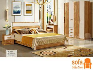 Combo giường ngủ tủ quần áo, bàn trang điểm trang trí sang trọng, mẫu mã đẹp cho phòng ngủ GT004