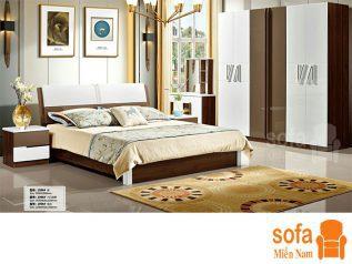 Combo giường ngủ tủ quần áo, bàn trang điểm trang trí sang trọng, mẫu mã đẹp cho phòng ngủ GT006