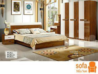 Combo giường ngủ tủ quần áo, bàn trang điểm trang trí sang trọng, mẫu mã đẹp cho phòng ngủ GT008