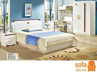 Combo giường ngủ tủ quần áo kiểu dáng hiện đại trang trí sang trọng, mẫu mã đẹp cho phòng ngủ GT016