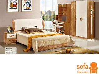 Combo giường ngủ tủ quần áo kiểu dáng hiện đại trang trí sang trọng, mẫu mã đẹp cho phòng ngủ GT017