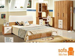 Combo giường ngủ tủ quần áo kiểu dáng hiện đại trang trí sang trọng, mẫu mã đẹp cho phòng ngủ GT018