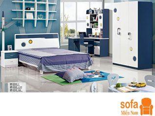 Combo giường ngủ tủ quần áo kiểu dáng hiện đại trang trí sang trọng, mẫu mã đẹp cho phòng ngủ GT019