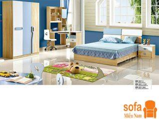 Combo giường ngủ tủ quần áo kiểu dáng hiện đại trang trí sang trọng, mẫu mã đẹp cho phòng ngủ GT020
