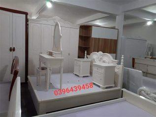 Combo giường ngủ tủ quần áo kiểu dáng hiện đại trang trí sang trọng, mẫu mã đẹp cho phòng ngủ GT021