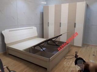 Combo giường ngủ tủ quần áo kiểu dáng hiện đại trang trí sang trọng, mẫu mã đẹp cho phòng ngủ GT030