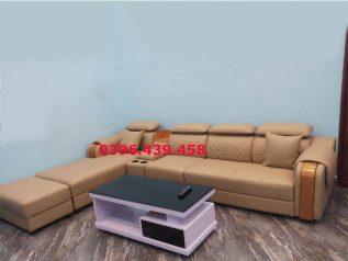 ghế sofa da nhập khẩu giá rẻ góc chữ L có giường nằm thư giãn sd0152