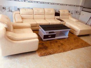 ghế sofa da nhập khẩu giá rẻ góc chữ L đầu ép có giường nằm rộng rãi sd0171