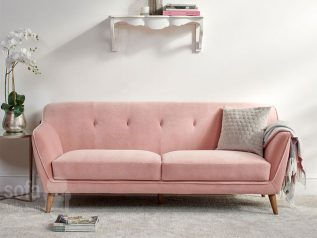 Ghế sofa vải nỉ nhập khẩu giá rẻ băng đơn nhỏ gọn dễ bố trí trong nhà màu hồng phấn tuyệt đẹp SV0017