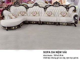 Ghế sofa tân cổ điển nhập khẩu giá rẻ góc chữ L tuyệt đẹp vừa sang trọng lại nhiều chỗ ngồi SCD004