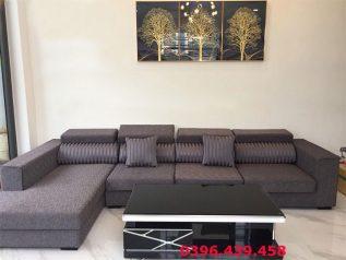 Ghế sofa vải nỉ nhập khẩu giá rẻ góc L có giường nằm thoải mái SV014