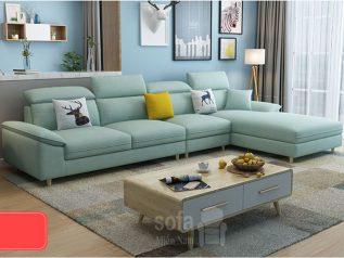 Bộ ghế sofa vải nỉ nhập khẩu sang trọng hiện đại góc chữ L nhiều chỗ ngồi có giường nằm SV031
