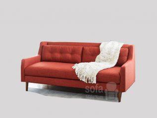 Băng ghế sofa vải nỉ giá rẻ màu đỏ kiểu dáng đơn giản nhưng kết cấu chắc chắn đẹp nhỏ gọn SV133