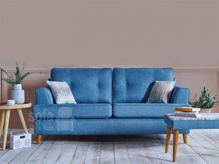 Băng ghế sofa vải nỉ giá rẻ màu xanh da trời đẹp kiểu dáng đơn giản nhưng kết cấu chắc chắn đẹp nhỏ gọn SV144
