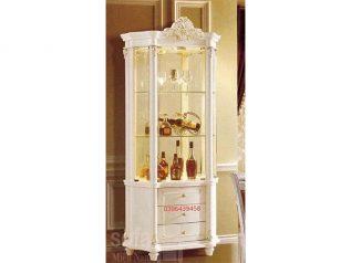 Tủ rượu nhập khẩu đẹp giá rẻ kiểu dáng hiện đại hoa văn trang trí rất sang trọng TR002