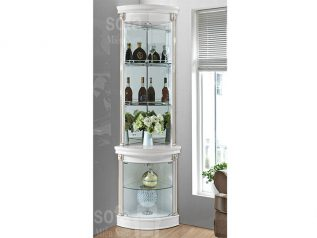 Tủ rượu nhập khẩu gỗ mặt kính đẹp giá rẻ kiểu dáng hiện đại hoa văn trang trí rất sang trọng TR005