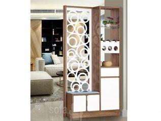 Tủ rượu nhập khẩu gỗ mặt kính đẹp giá rẻ kiểu dáng hiện đại màu sắc trang nhã nhiều chỗ để đồ TR007