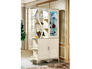 Tủ rượu nhập khẩu gỗ mặt kính đẹp giá rẻ kiểu dáng hiện đại màu sắc trang nhã nhiều chỗ để đồ TR015