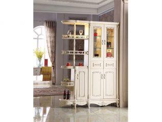 Tủ rượu nhập khẩu gỗ mặt kính đẹp giá rẻ kiểu dáng hiện đại màu sắc trang nhã nhiều chỗ để đồ TR019