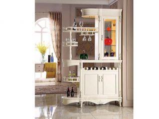 Tủ rượu nhập khẩu gỗ mặt kính đẹp giá rẻ kiểu dáng hiện đại màu sắc trang nhã nhiều chỗ để đồ TR020