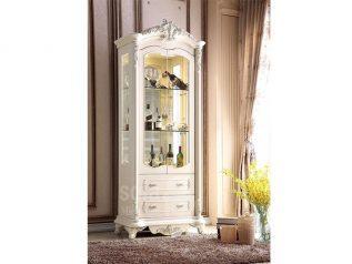 Tủ rượu nhập khẩu gỗ mặt kính đẹp giá rẻ kiểu dáng hiện đại màu sắc trang nhã nhiều chỗ để đồ TR021