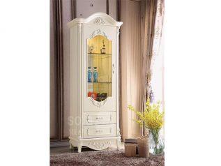Tủ rượu nhập khẩu gỗ mặt kính đẹp giá rẻ kiểu dáng hiện đại màu sắc trang nhã nhiều chỗ để đồ TR022