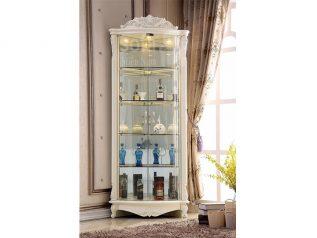 Tủ rượu nhập khẩu gỗ mặt kính đẹp giá rẻ kiểu dáng hiện đại màu sắc trang nhã nhiều chỗ để đồ TR023