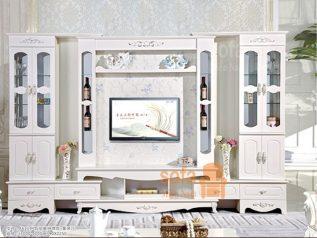 Tủ rượu nhập khẩu gỗ mặt kính đẹp giá rẻ kiểu dáng hiện đại màu sắc trang nhã nhiều chỗ để đồ TR026